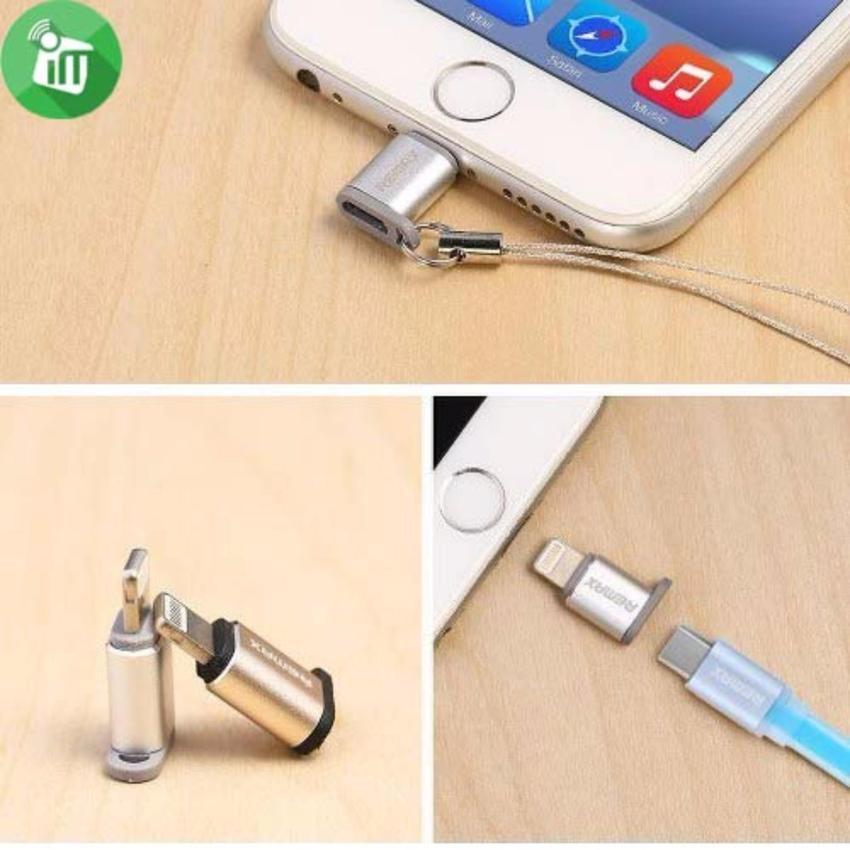 Hình ảnh Đầu chuyển Micro USB sang Lightning Remax (chuyển đầu sạc Android thành iPhone)