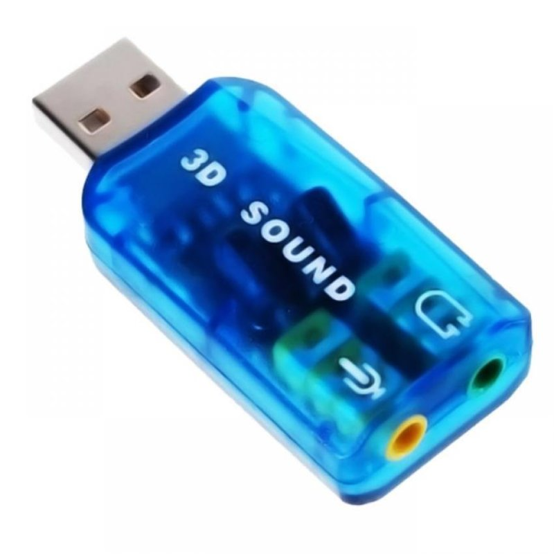 Bảng giá Đầu chuyển USB ra sound 2.1 âm thanh 3D Sound AUDIO DOCK (Xanh) Phong Vũ