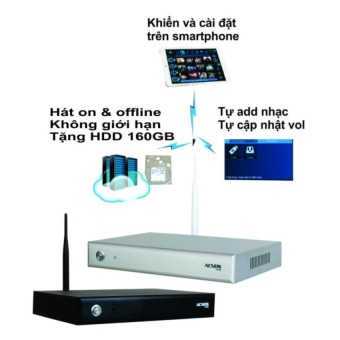 Đầu karaoke wifi Online & Offline Android Acnos KM6 (Tặng HDD 160GB)