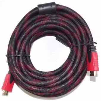 Dây cáp tín hiệu 2 đầu HDMI chống nhiễu 10M (Đen phối đỏ)