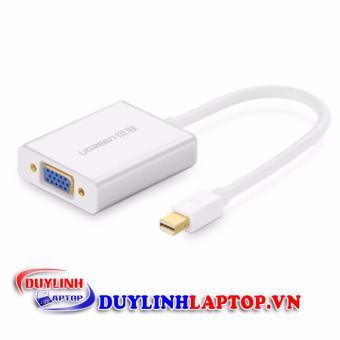 Dây chuyển đổi mini Displayport sang VGA vỏ hợp kim dài 15CM UGREEN10403 (trắng)