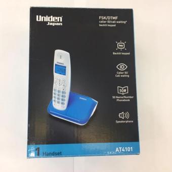 Điện thoại không dây UNIDEN AT4101 màu xanh