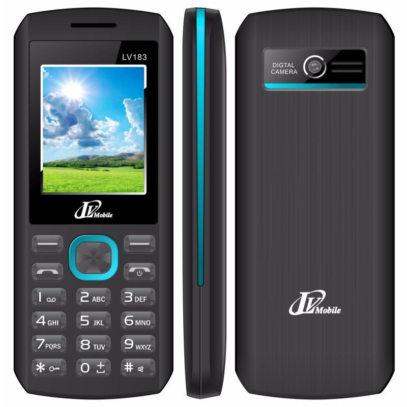 Điện thoại LV183 2sim ( Đen viền xanh)
