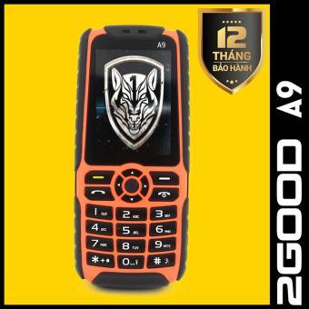 Điện thoại pin khủng 2GOOD A9 - 2 SIM - 7800 mAh(Đen phối cam)