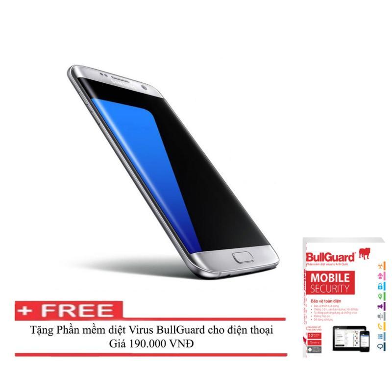 Điện thoại Samsung Galaxy S7 edge 32GB ( Bạc ) RAM 4GB  + Phần mềm diệt Virus BULLGUARD (Anh quốc) - Hàng nhập khẩu