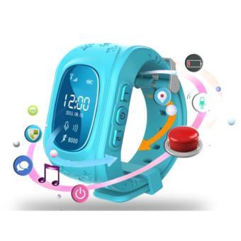 Đồng hồ định vị GPS SmartWatch Q50 (Xanh dương)