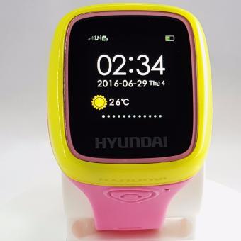 Đồng hồ định vị trẻ em cao cấp HYUNDAI (Hồng Vàng)