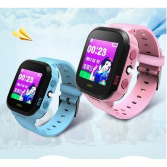 Đồng hồ định vị trẻ em GPS Tracker Y21G mới nhất (Xanh Dương)