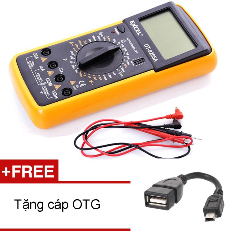 Bảng giá Đồng hồ đo vạn năng Excell DT9205A (Đen phối vàng) + Tặng cáp OTG đầu vuông Phong Vũ