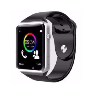 Đồng hồ Thông minh A1 cho deal 24h (Viền Bạc Dây Đen).