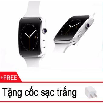 Đồng hồ thông minh Cawono X6 Màn hình Cong (Trắng) + Tặng cóc sạctrắng