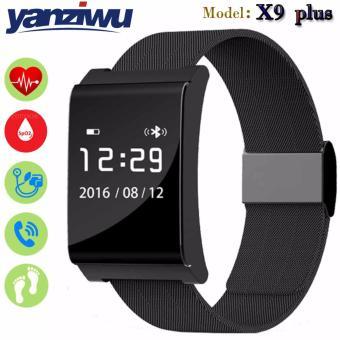 Đồng hồ thông minh IWEAR X9 Plus - Đo nhịp tim, huyết áp nồng độ oxy(đen)