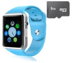 Đồng hồ thông minh Smart Watch A1 gắn sim độc lập và thẻ nhớ 8GB (Xanh dương)