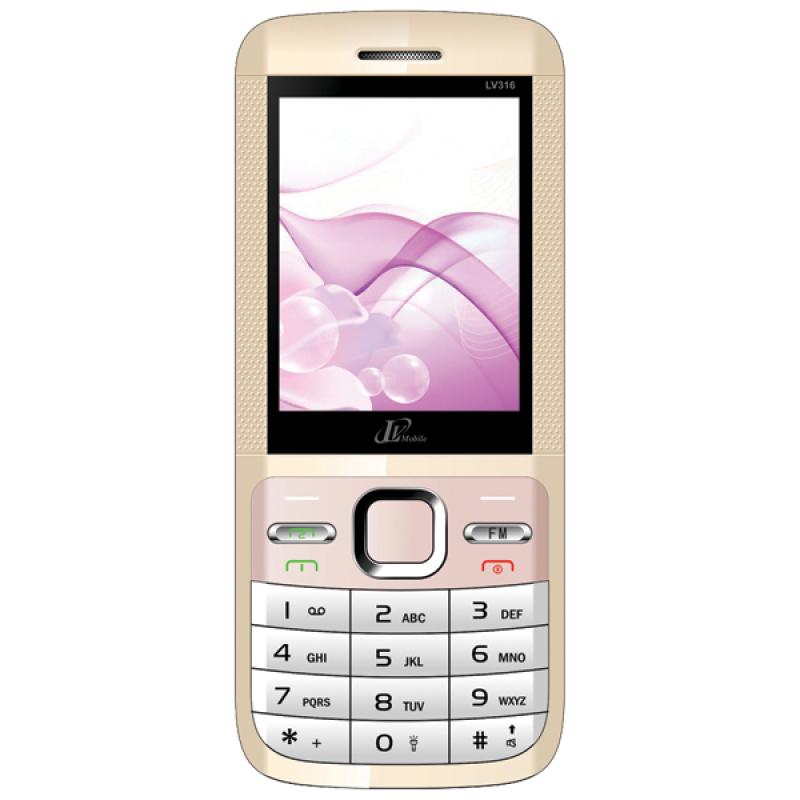 ĐTDĐ LV mobile LV316 2 SIM (Vàng)