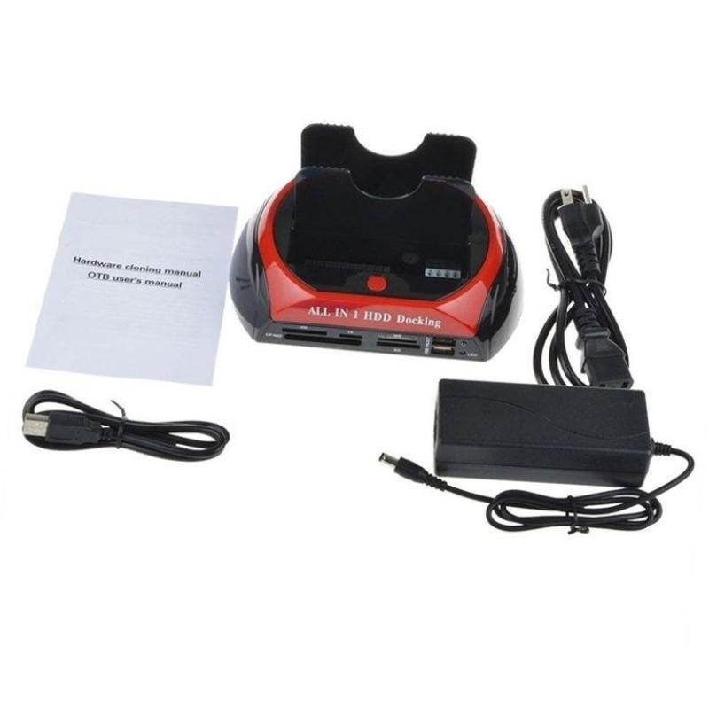 Bảng giá ERA HDD Docking Station Dual USB 2.0 2.5/ 3.5 Inch IDE SATA External HDD Box US Plug - intl Phong Vũ