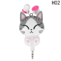 Fancyqube Cartoon Unicorn Wired Retractable In-Ear Headset H02