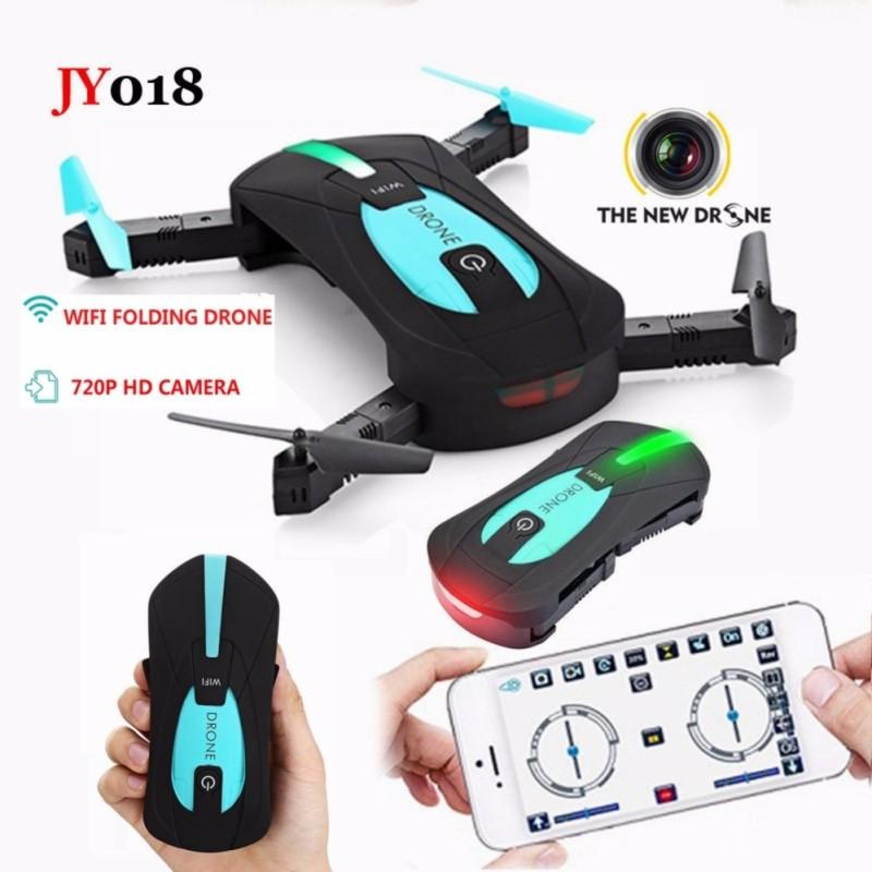Flycam JY018, Camera FPV WIFI 720P, điều khiển điện thoại (Xanh Đen)