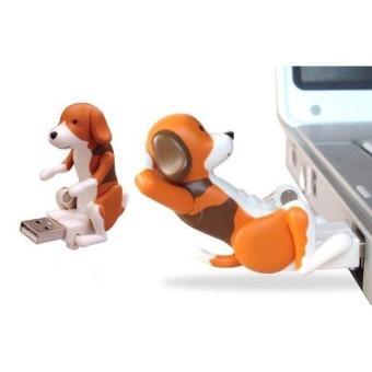Funny Cute pet USB Humping Spot Dog Toy Christmas Gray (Intl) -intl