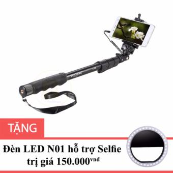 Gậy hỗ trợ chụp hình Selfie YunTeng 1188 màu Đen tặng Đèn LED hỗ trợ Selfie N01