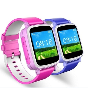 GPS Tracker Watch Children Kids Smart GPS Watch Phone SOSGEO-FenceGlobal Positioning GPS Device (Blue) - intl
