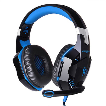 High Quality Over-The-Ear Stereo LED Gaming Headphones withMicrophone (Blue)