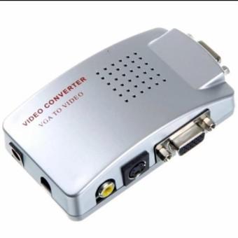 Hộp chuyển đổi tín hiệu từ VGA sang SVIDEO - AV (Trắng)