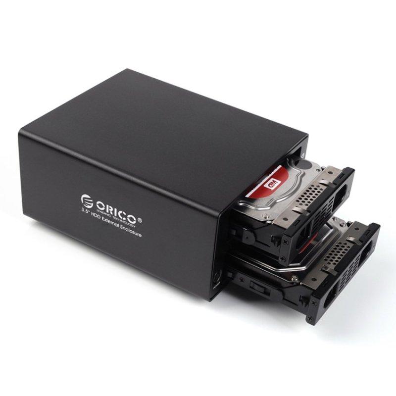 Bảng giá Hộp đựng 2 ổ cứng 3.5 ORICO 3529RUS3 (Đen) - Hàng phân phối chính hãng Phong Vũ