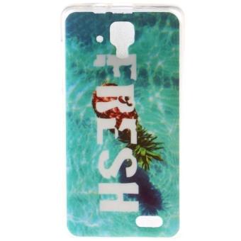 Hot Design Pineapple TPU Soft Gasbag Back Case Cover For Lenovo A536 -