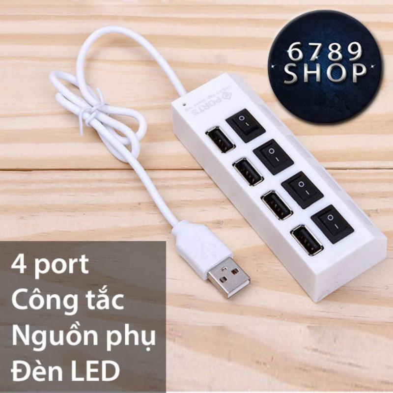 Bảng giá Hub USB 4 port 2.0 | Chia USB 4 cổng 2.0 có công tắc Phong Vũ