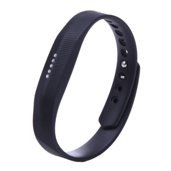 Silicone Wrist Band Strap For Fitbit Flex 2 Smart Watch (Black) - intl