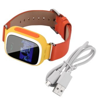 Allwin Kids Smart Watch Anti-lost SOS Call GSM Locator GPS Tracker Safe for Android Orange (Intl)