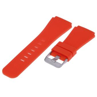 Sports Silicone Bracelet Strap Band For Samsung Gear S3 Watch (Red) - intl