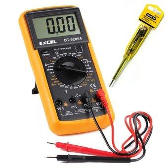 Đồng hồ đo điên áp Excel (Đen phối vàng) + Bút thử điện