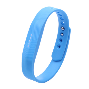 Silicone Wrist Band Strap For Fitbit Flex 2 Smart Watch (Sky Blue) - intl