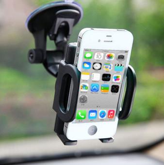 Giá đỡ điện thoại gắn kính trước xe hơi (Đen)