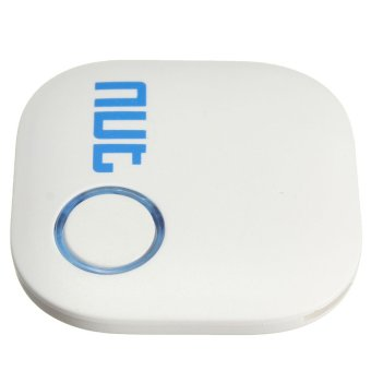 Bluetooth Tracker Child Pet Key GPS Locator Finder Alarm Tag Android IOS APP White - intl