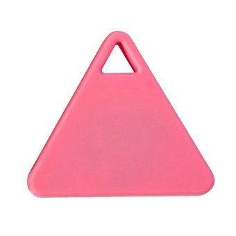 Moonar Triangle Wireless Bluetooth 4.0 Anti-lost Anti-Theft Alarm Device Tracker GPS Locator Finder Tracer (Pink) - Intl