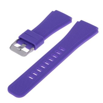 Sports Silicone Bracelet Strap Band For Samsung Gear S3 Watch (Purple) - intl