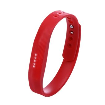 Silicone Wrist Band Strap For Fitbit Flex 2 Smart Watch (Red) - intl