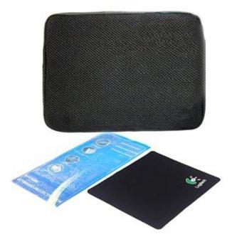 Bộ túi chống sốc + dán bàn phím+ miếng lót chuột 15 inch (Đen)