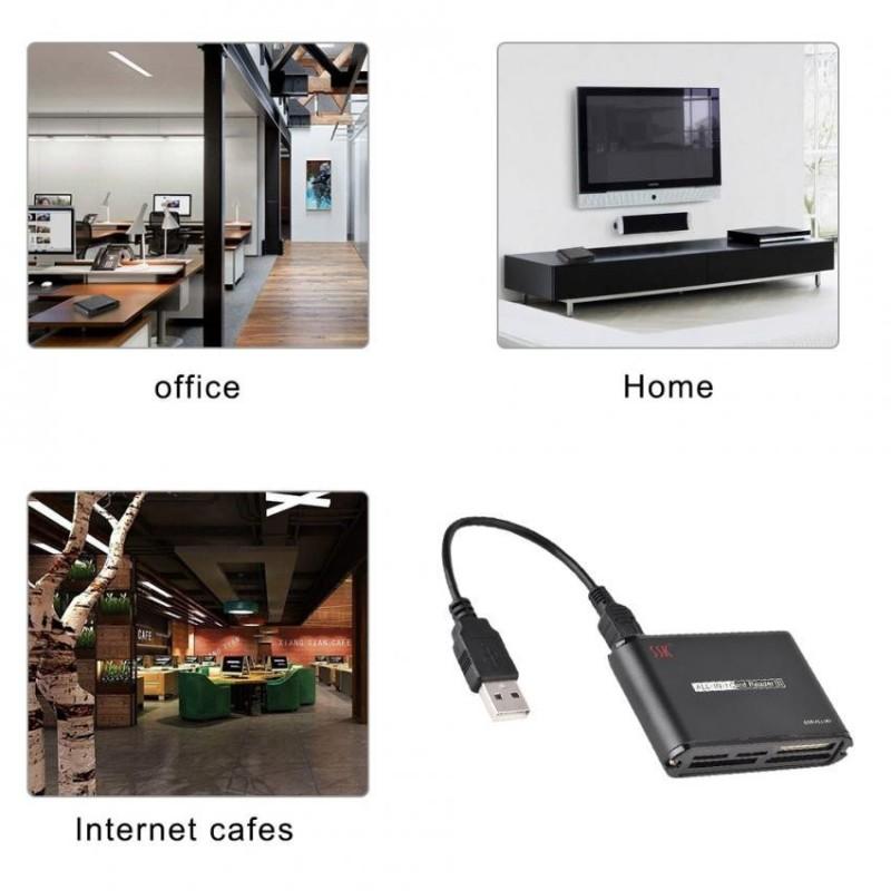 Bảng giá Justgogo SSK USB 2.0 High Speed All-In-One Card Reader for M2 / SD / MMC / Micro SD / MS / XD / CF - intl Phong Vũ