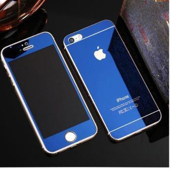Kính cường lực gương 2 mặt Glass cho iPhone 5/5S/SE (xanh than)