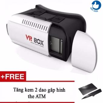 Kính thực tế ảo VR Box 3D + Tặng kèm 2 dao gấp hình thẻ ATM