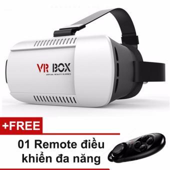 Kính thực tế ảo VR Box + tặng kèm remote đa năng