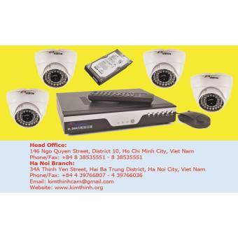 Lắp đặt camera quan sát - Gói 4 camera chất lượng cao Seavision AHD 1.3Mp