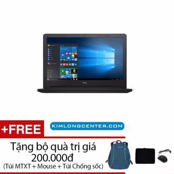 Laptop Dell Ins 3567C i3 6006U 15.6inches HD (Đen) - Hãng Phân phối chính thức - Tặng Balo + Chuột + Túi Chống Sốc(Đen)