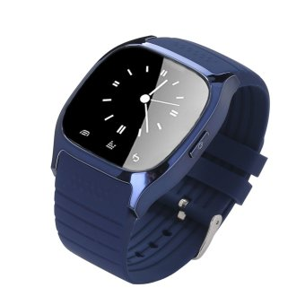 Leegoal Bluetooth Smart Wrist Watch Android Mobile Phone Watch,Blue - intl