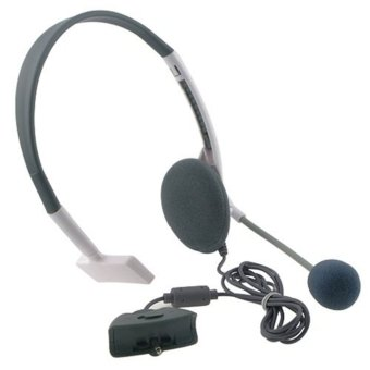 Leegoal Grey Headphones Live Gaming Headset with Microphone forXbox 360 - intl