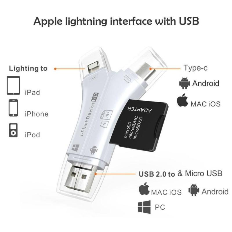 Bảng giá leegoal SD Card Reader, 4 In 1 I Flash Drive USB Micro SD TF Card Reader Adapter (Gold) - intl Phong Vũ