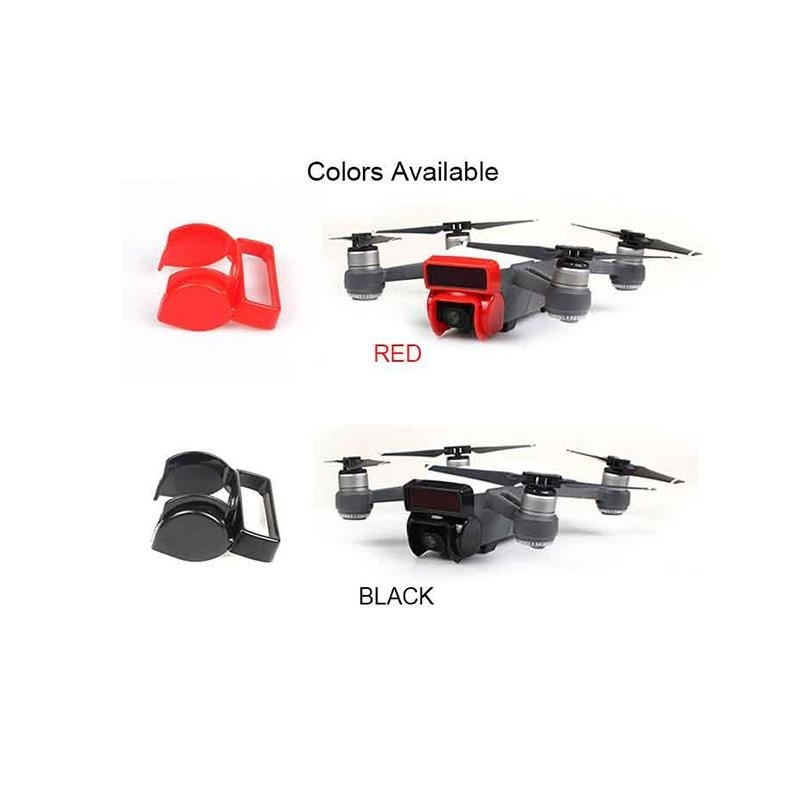 Lens Hood Gimbal Camera Protector 2 Color Cap Sunshade Cover for DJI Spark Drone - intl